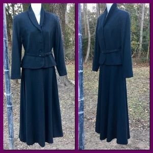Vtg 2pc Wool Skirt Suit, sz 10